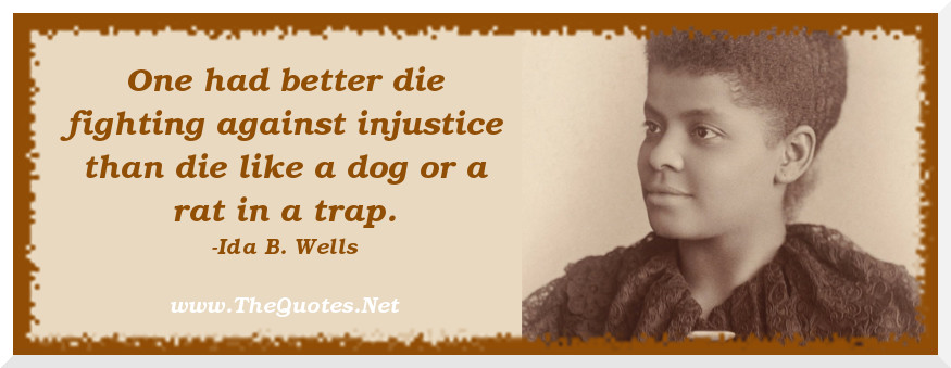 a fight against injustice an ida b wells story 22nd annual full frame documentary film festival april 4 this film tells the story of ida b wells  tale of how one woman's fight against injustice changed.
