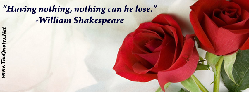 Facebook Cover Image William Shakespeare Quote Thequotes Net