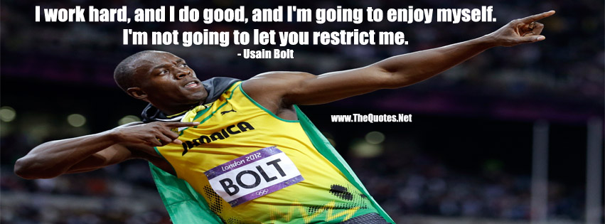 Facebook Cover Image Usain Bolt Quote Thequotes Net