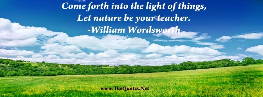Facebook Cover Image William Wordsworth Quote