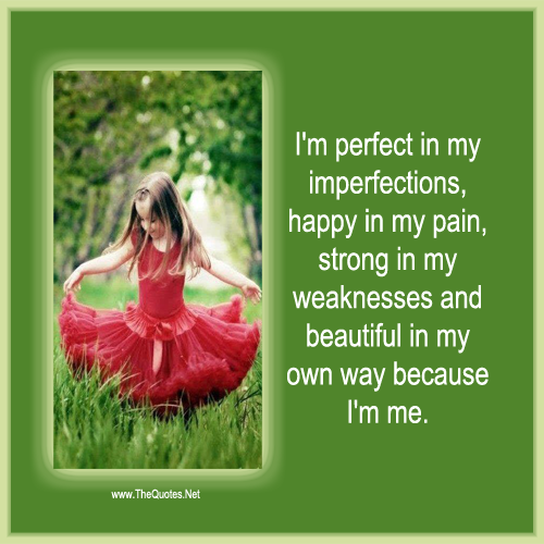 I 39 m Perfect in My Imperfections Quote