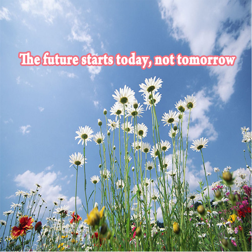 Pope John Paul the Future Starts Today Not Tomorrow